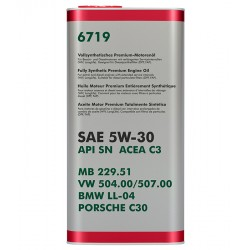 Motorno ulje Audi Škoda Seat Vw Bmw LL-04 Mercedes 229.51 Porsche c30 5w30  5L Ulje za motor Longlife III  Vw Audi Škoda 5w-30 ulje 504.00 507.00 Motorno ulje Škoda Vw Audi Seat